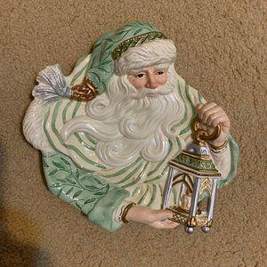 Fitz & Floyd Gregorian Santa Canape Plate